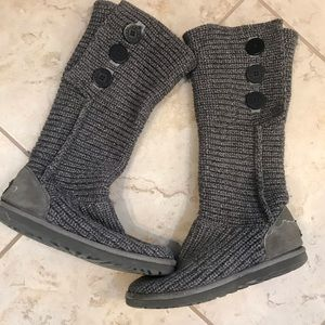 Ugg Sweater Boots - Gray (size 8)